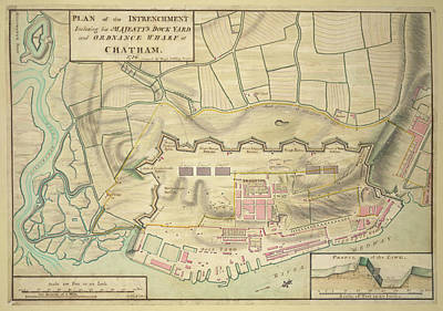 Chatham Photograph - A Plan Of Chatham by British Library