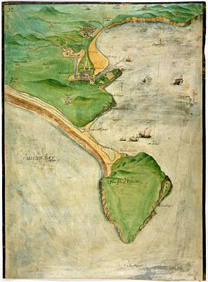 A Plan Of The Island Of Portland Print by British Library