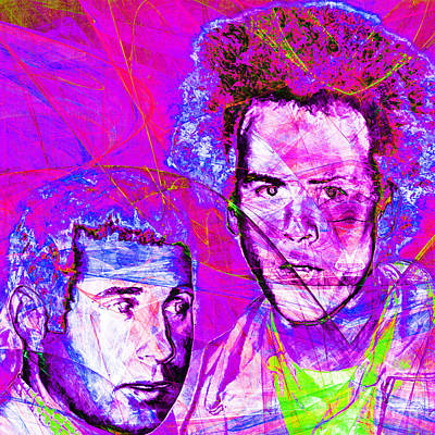 A Poet And A One Man Band Simon And Garfunkel 20140908 Square Print by Wingsdomain Art and Photography