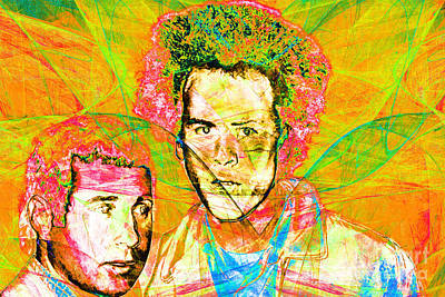 A Poet And A One Man Band Simon And Garfunkel 20140908 V2 Print by Wingsdomain Art and Photography