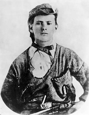 A Portrait Of Jesse James Print by Underwood Archives