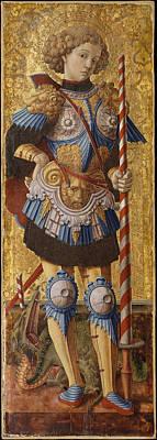 Portrait Painting - A Portrait Of Saint George by Celestial Images