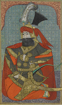 Jihad Painting - A Portrait Of Sultan Murad Iv by Celestial Images