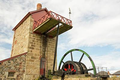 Engine House Photograph - A Preserved Tin Mine Engine House by Ashley Cooper