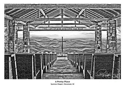 A Pretty Place - Architectural Rendering Print by A Wells Artworks