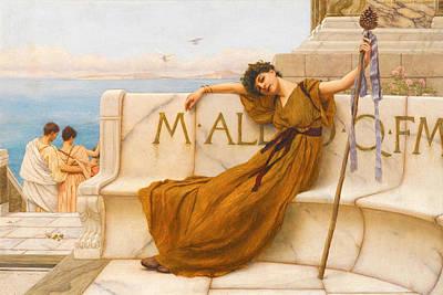 John William Godward Painting - A Priestess Of Bacchus by John William Godward