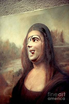 A Profile Of Mona Lisa Print by Michael Hoard