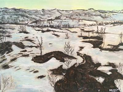 Winterscape Painting - A Quiet And Peaceful Winter In My Life by Belinda Low
