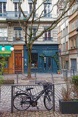 Bouchon Restaurant Photograph - A Quiet Day In Lyon by W Chris Fooshee