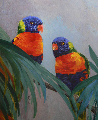 A Quiet Moment Together Print by Margaret Saheed