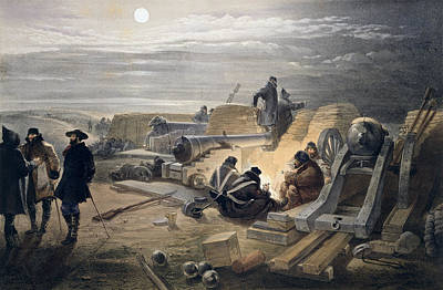 A Quiet Night In The Batteries, Plate Print by William 'Crimea' Simpson