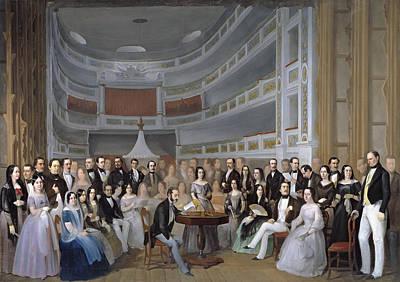 Antonio Maria Esquivel Painting - A Reading Of Ventura De La Vega by Antonio Maria Esquivel