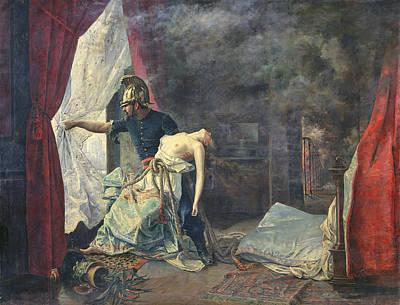 Bare Breasts Photograph - A Rescue In Paris, 1886 Oil On Canvas by Eugenio Alvarez Dumont