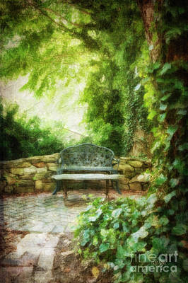 Walkway Digital Art - A Restful Retreat by Lois Bryan