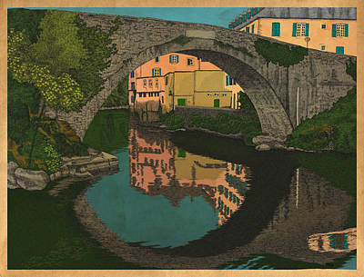 Bridges Mixed Media - A River by Meg Shearer