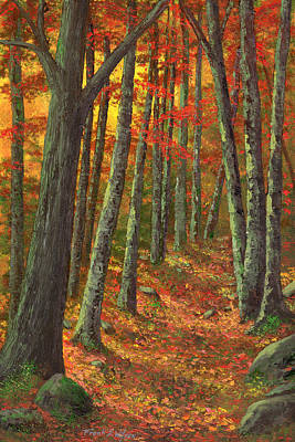 A Road Less Traveled Print by Frank Wilson