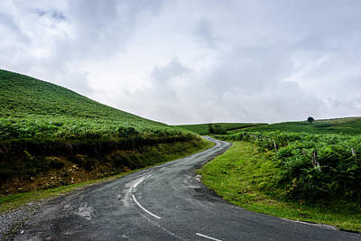 Landscape Photograph - A Road Up A Mountain by Helix Games Photography
