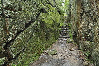 A Rock Face Trail Leading To Agawa Bay Print by Ken Gillespie