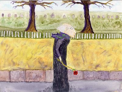 A Rose For My Dear Print by Jim Taylor