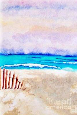 A Sand Filled Beach Print by Chrisann Ellis