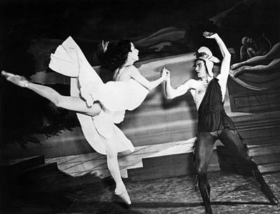 A Scene With The Russian Ballet Print by Underwood Archives