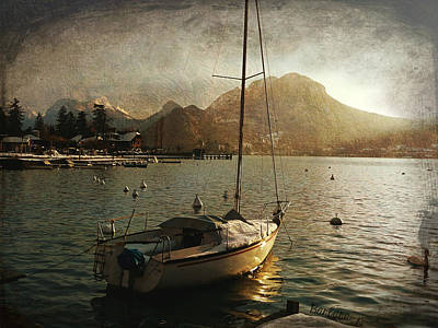 A Ship In Port Print by Barbara Orenya