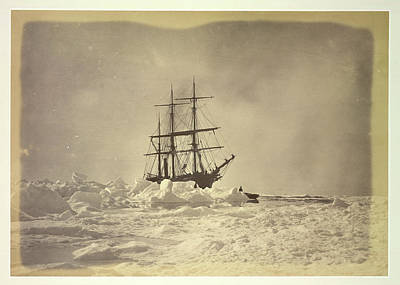 Bradford Photograph - A Ship In The Ice by British Library