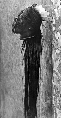 Tsantsa Photograph - A Shrunken Head From Ecuador by Underwood Archives