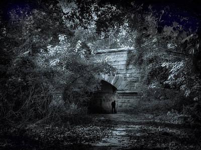 Spooky Digital Art - A Silvery Moon by Jessica Jenney