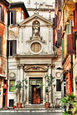 Stone Buildings Photograph - A Small Church In Rome by Mel Steinhauer