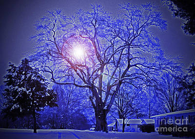 A Snow Glow Evening Print by Lydia Holly