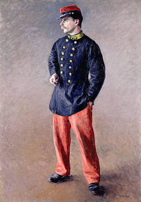 Army Painting - A Soldier by Gustave Caillebotte