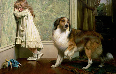 Doll Painting - A Special Pleader by Charles Burton Barber