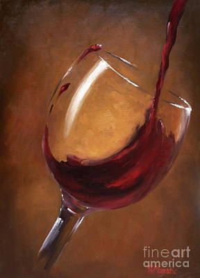 Winery Painting - A Splash Of Red by Viktoria K Majestic