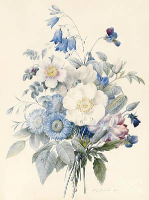 A Spray Of Summer Flowers Print by Louise D Orleans