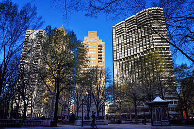 Phillies Digital Art - A Spring Day At Rittenhouse Square by Bill Cannon