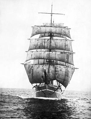 Single Object Photograph - A Square Rigged Sailing Ship by Underwood Archives