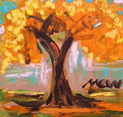 Simplicity Drawing - A Standout Tree by Mary Carol Williams