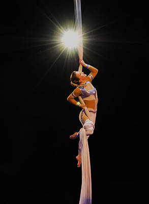 Gymnasts Digital Art - a Star is born - the gymnast by Chris Flees