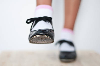 Dancer Photograph - Old Tap Dance Shoes From Dance Academy - A Step Forward Tap Dance by Pedro Cardona