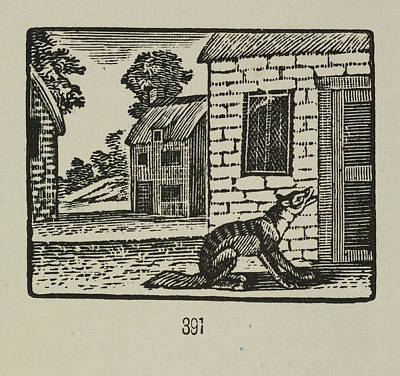 A Story Of The Three Little Pigs Print by British Library