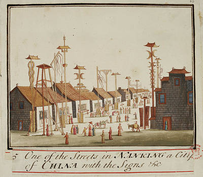A Street In Nanking Print by British Library