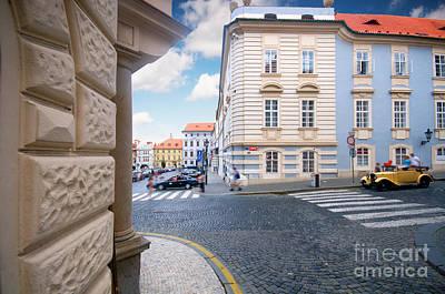 Eastern Photograph - A Street In Prague by Michal Bednarek