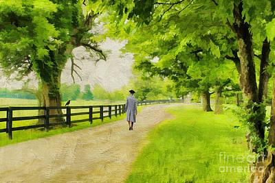 A Stroll Along The Bluegrass Print by Darren Fisher