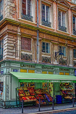Bouchon Restaurant Photograph - A Stroll In Lyon by W Chris Fooshee