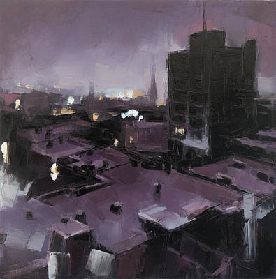 Montreal Buildings Painting - A Sudden Breath Of Cold And Stillness by Cjeremy Price