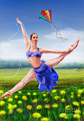 Ballet Painting - A Summer Breeze -seasonal Winds Series 4 Of 4 by Reggie Duffie
