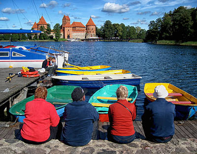 Vilnius Photograph - A Summer Day At Trakai Castle Lithuania by Mary Lee Dereske