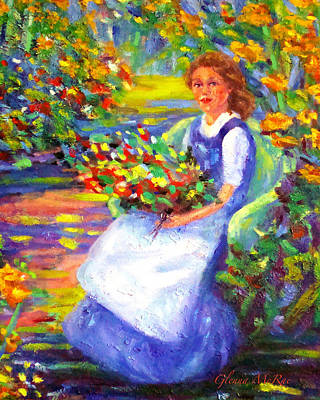 Wicker Chair Painting - A Summer Day  by Glenna McRae
