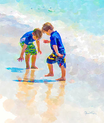 A Summer To Remember Iv Print by Susan Molnar